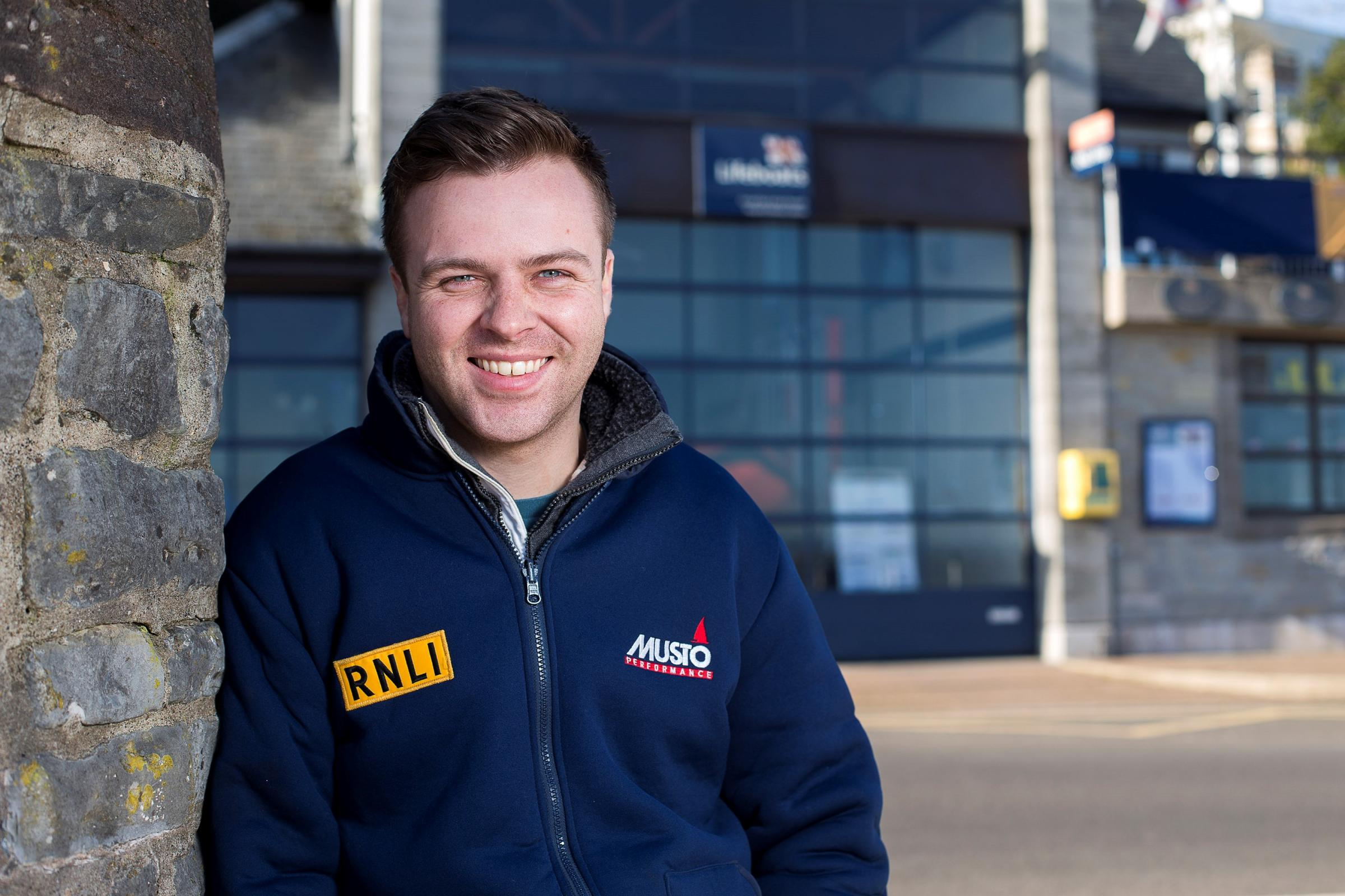 Ben Evans has recently taken the helm for the first time on an RNLI lifeboat