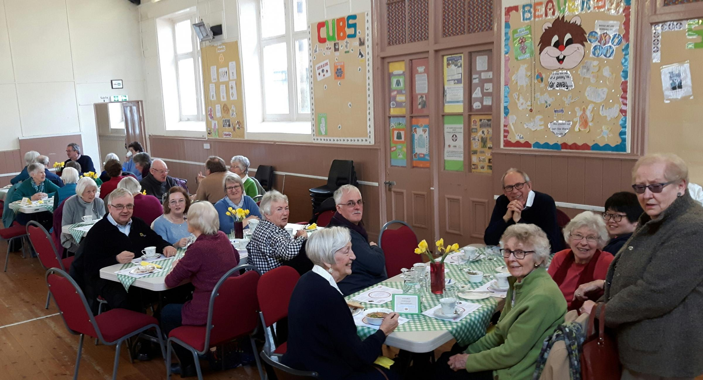 The well supported Lent Lunch in Stanwell Road Baptist Church Hall