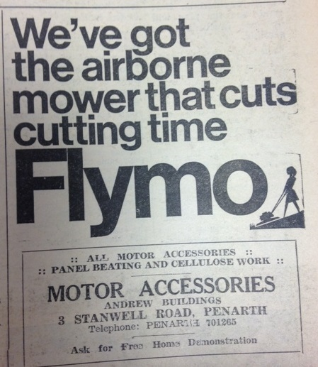 Advert from the Penarth Times of April 5, 1968