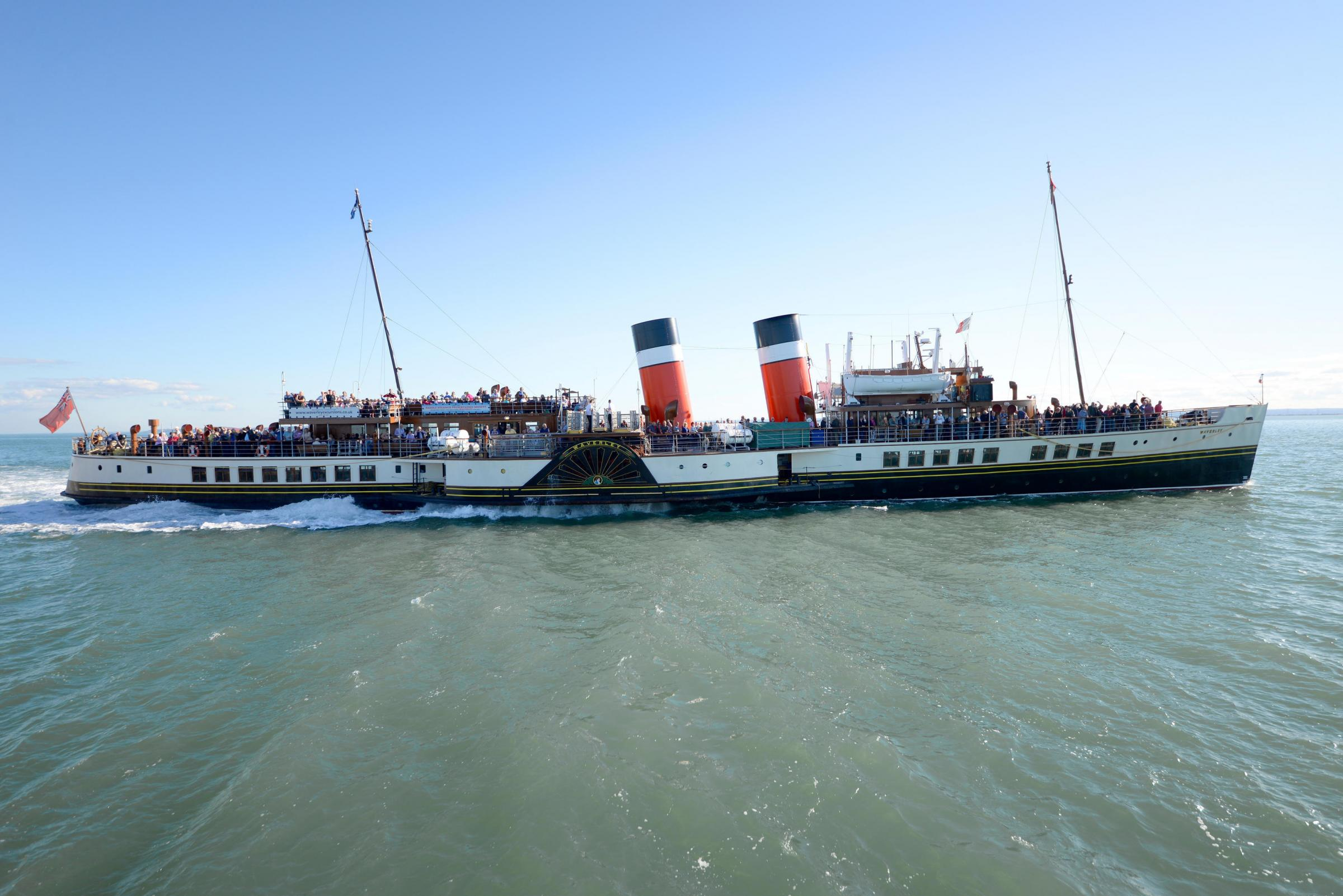 The PS Waverley is the last seagoing paddle steamer in the world