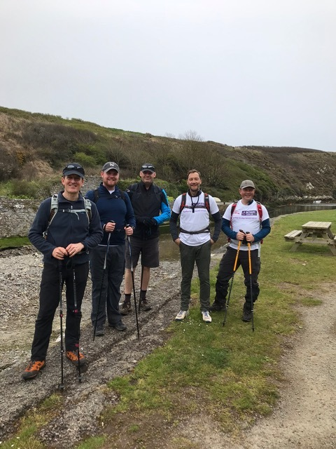 The group walked completed a 60 mile walk in three days
