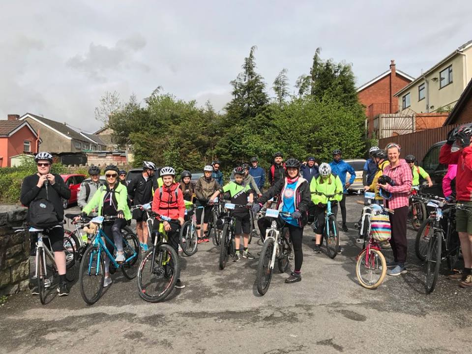 Hundreds of people turned up to enjoy the Ysgol Y Deri Taff Trail
