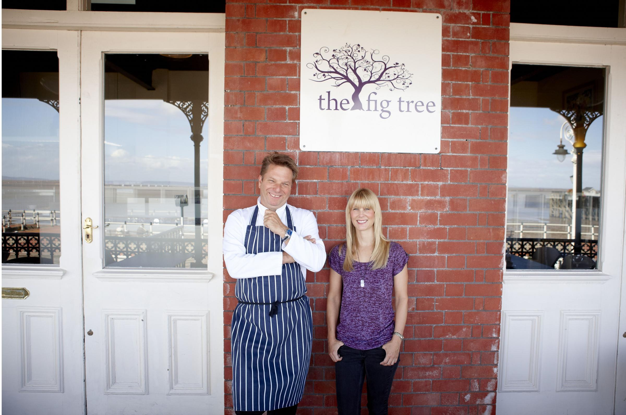 Mike Caplan-Hill and Sandra Guppy outside The Fig Tree