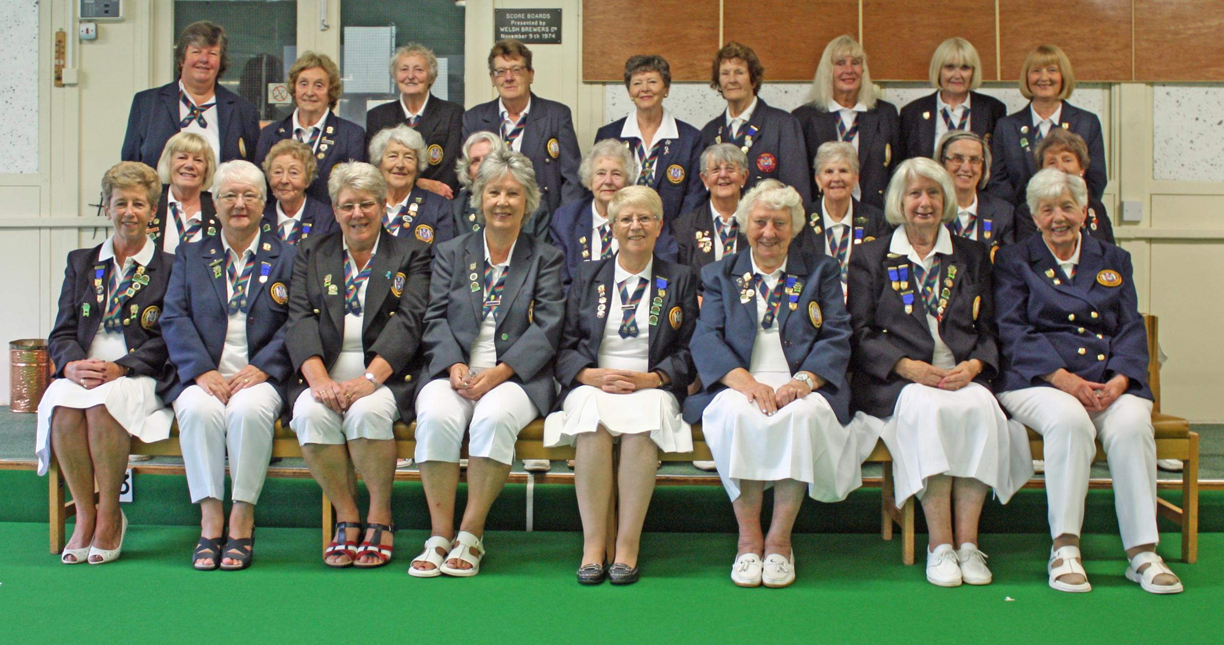 The Ladies section of Penarth Bowling Club