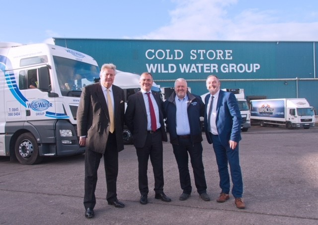 Nigel Payne from the Wild Water Group, Jonathan Cave from the Lloyds Bank Commercial Bank, Ken Rattenbury from the Wild Water Group and Stephen Elias from Development Bank of Wales