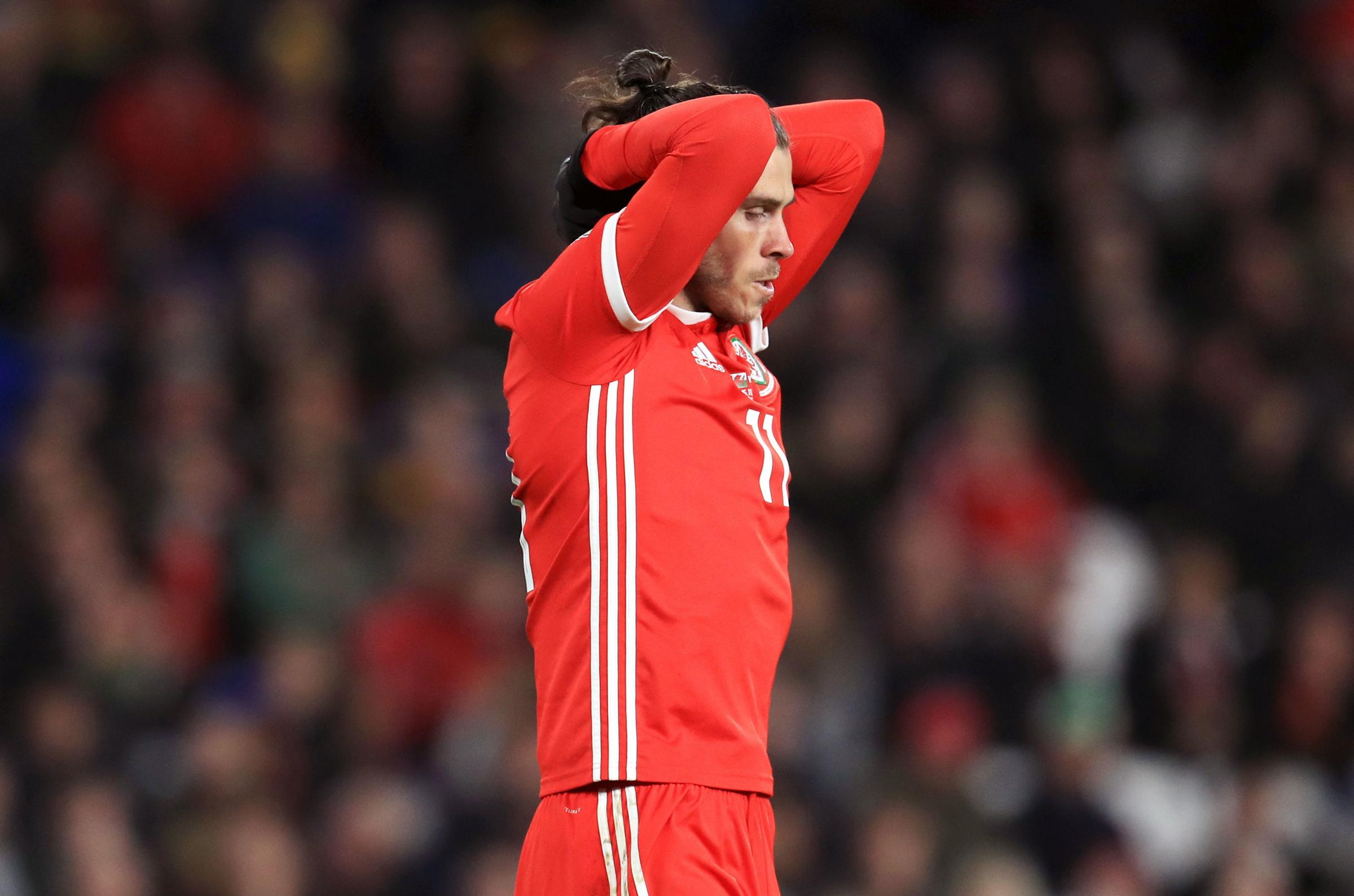 FRUSTRATION: Gareth Bale scored but was on the losing side