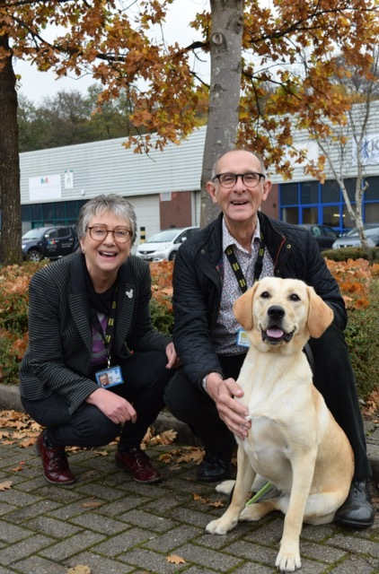 Janet and Alan Keggie of Penarth with guide dog puppy Cariad