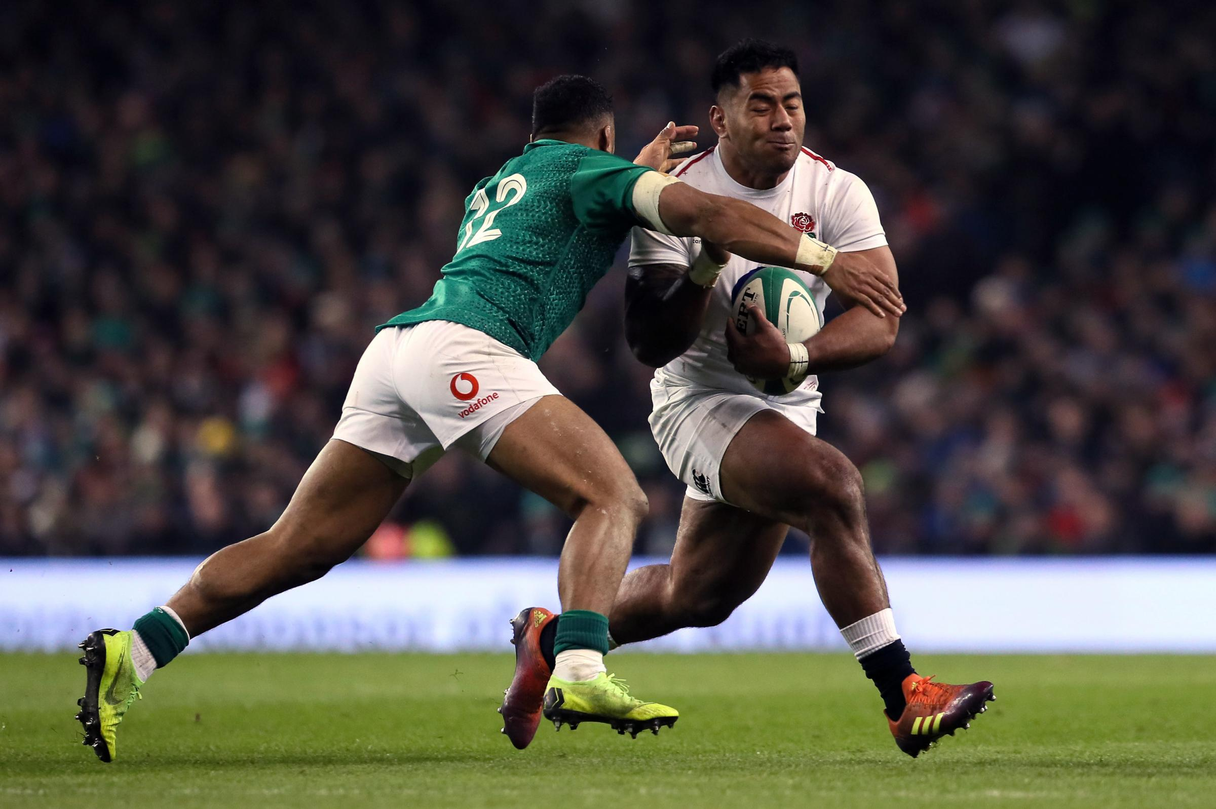 CENTRE STAGE: Strong-running Manu Tuilagi will lead the England charge from midfield in Cardiff