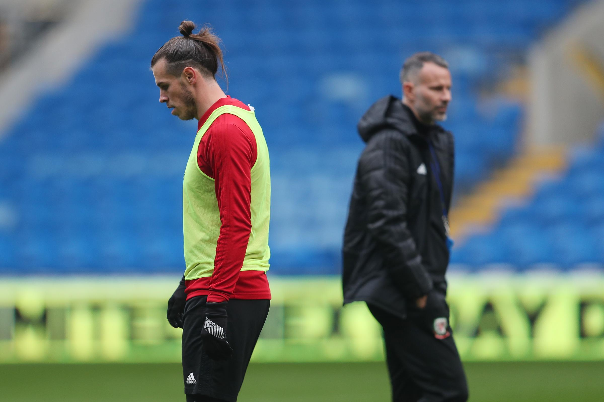 Wales manager Ryan Giggs (right) wants to take the pressure off his star man Gareth Bale (left) heading into the European Championship qualifiers