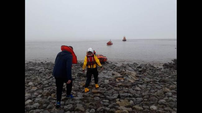 Three sailors were found on Flatholm Island. Credit: RNLI