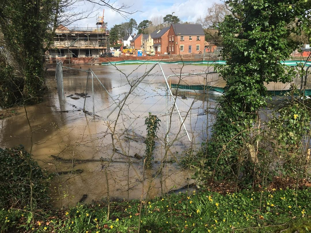 Residents fear flooding may affect the A4055