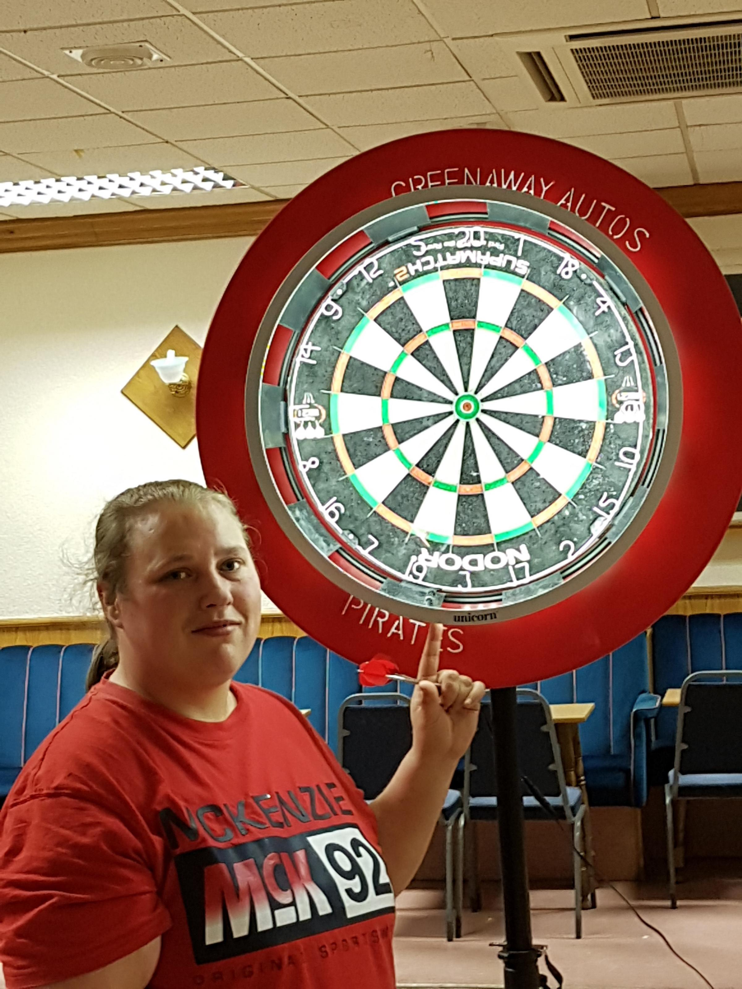 Marissa claimed her maiden victory with a double 19 checkout